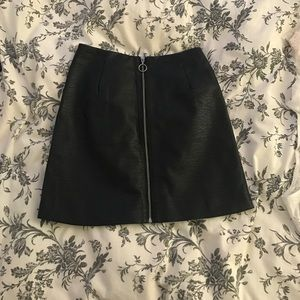 NWT High waisted Faux Leather mini skirt